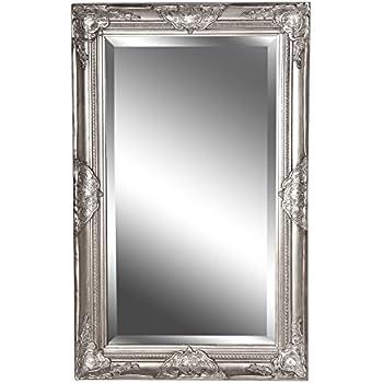 Bekannt Spiegel Wandspiegel antik silber Barock CLAIRE 80 x 50 cm: Amazon HQ81