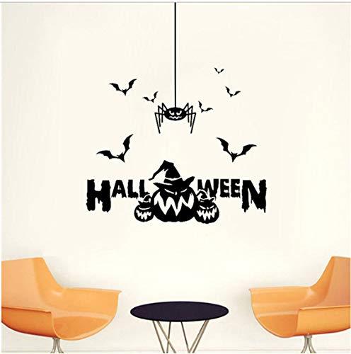 Happy Halloween WandaufkleberKürbis Schwarz Kinderzimmer Hintergrund Benutzerdefinierte Abnehmbare Wasserdichte 60 * 60 cm