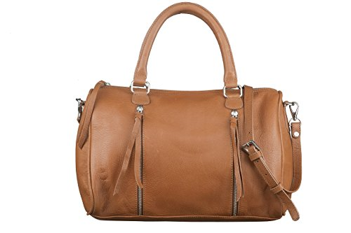 Neon By Paint PT2152BO023BRW Leather Hand Held Bag (Tan)