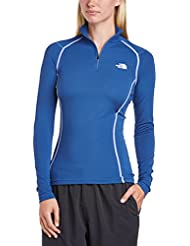 The North Face W Warm L/S Zip Neck - Camiseta para mujer