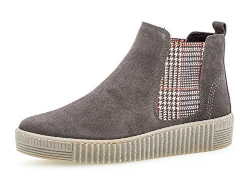 Gabor Damen Chelsea Boots 33.731, Frauen Stiefelette,Stiefel,Halbstiefel,Bootie,Schlupfstiefel,flach,Pepper/Kombi(fumo),40.5 EU / 7 UK