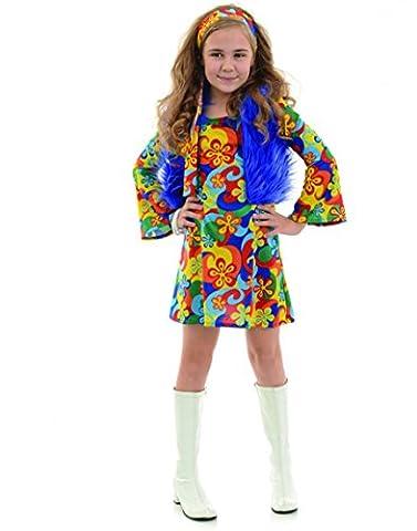Underwraps Rainbow 70'S Hippie Girls Costume Small