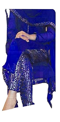 Sunshine Fashion Blue Colored Banglori Silk Fabric Salwar- Suit (Semi-Stitched)( Eid Speical New Arrival Latest Best Design Beautiful Dresses Material Collection For Women and Girl Party wear Festival wear Special Function Events Wear In Low Price With High Demand Todays Special Offer and Deals with Fancy Designer and Bollywood Collection 2017 Punjabi Anarkali Chudidar Patialas Plazo pattern Suits