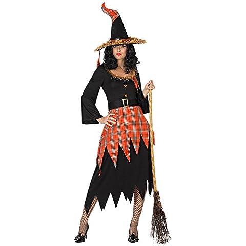 Atosa 26220 - traje de bruja para las mujeres, tamaño 42/44, negro / naranja