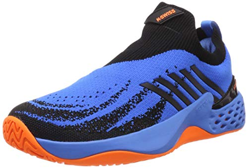 K-Swiss Performance Aero Knit, Scarpe da Tennis Uomo, Blu (Brilliant Blue/Neon Orange 427M), 42.5 EU