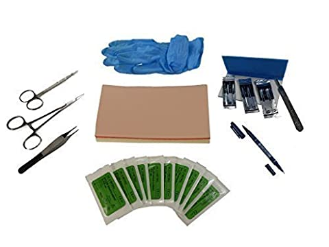 Suturing Doctor Suturing Practice Kit - Professional Set + FREE 12 MIXED NEEDLE PACK With Thread! - AMAZING OFFER!!