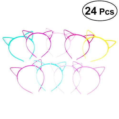 TOYANDONA 24pcs Katzenohren Stirnband Haarband für Geburtstagsfeierbedarf und tägliche Accessoires