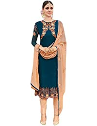 ETHNIC EMPORIUM Blue Salwar Kameez Vestido de Mujer musulmán de la India Bollywood Shalwar Rakhi Eid