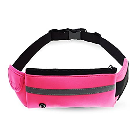 Refoss Bumbags Fanny Pack, Sport Waist Pack, Running Belt, Outdoor Sports Waist Bag, for Sports Men and Women, Fits Samsung Galaxy S5, S6, iPhone 6, 7 Plus, Suitable for Traveling, Hunting, Climbing -