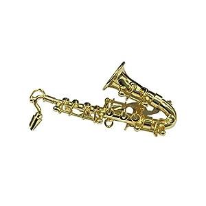Miniblings Saxofon Brosche Saxofonbrosche Saxophon Anstecknadel +Box verg. Sax