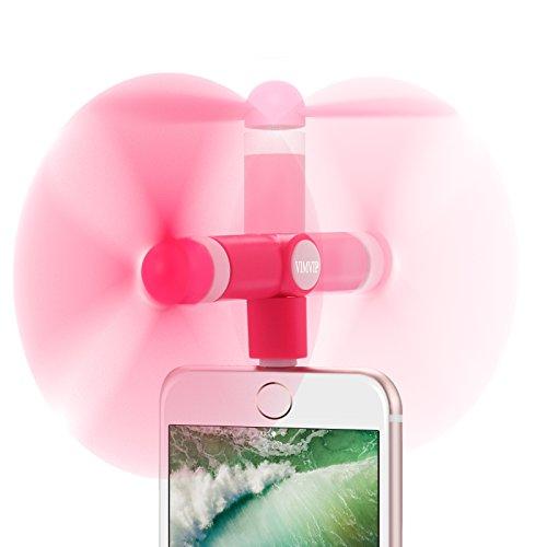 Preisvergleich Produktbild VIMVIP Mini-Ventilator für iPhone 7 / 7 Plus,  handlich,  8-Pin-Lightning-Anschluss,  um 180° drehbar