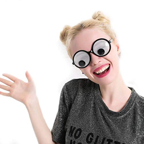 Funny Googly Eyes Goggles Shaking Eyes Party Brille und Spielzeug für Party Cosplay ()