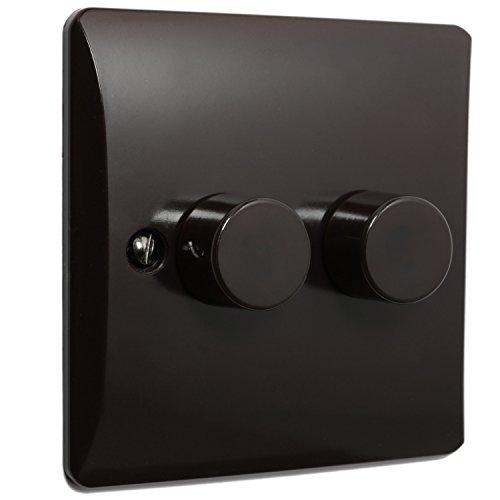 Braun Bakelit Licht Dimmer Schalter 2-Gang von Art Deco Emporium -