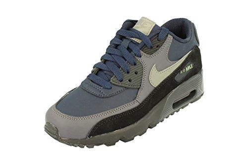 NIKE Air Max 90 LTR GS Running 833412 Sneakers Turnschuhe (UK 4 US 4.5Y EU 36.5, Obsidian Dark Stucco 406) (Jordan 4 Nike Frauen Air)