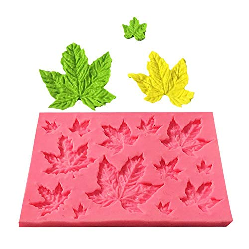 Volwco 3D Maple Leaves Gum Paste Flower for Cake, Bread, Cupcake, Cheesecake Maple Cake Pan