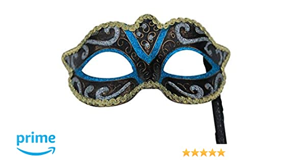 TURQUOISE BLUE RIALTO VENETIAN MASQUERADE PARTY CARNIVAL EYE PROM BALL MASK
