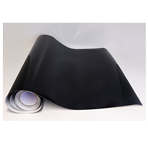 Rouleau adhésif - Papier Peint Autocollant - Décoration - Noir Brillant - Pose Facile et Rapide - Cuisine, Salon, Chambre, Salle de Bain - Idéal pour Meuble, Porte, Placard, Mur (1 m x 61,5 cm)