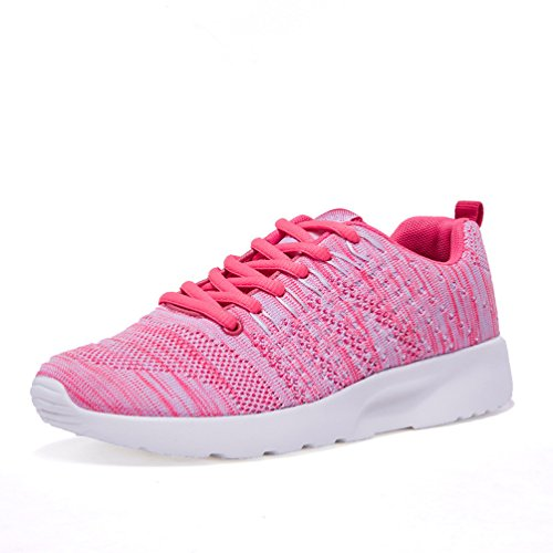 AFFINEST-Donna-Uomo-Scarpe-da-Ginnastica-Sneakers-Respirabile-Mesh-Scarpe-da-corsa-allaperto-SneakersRosa-36