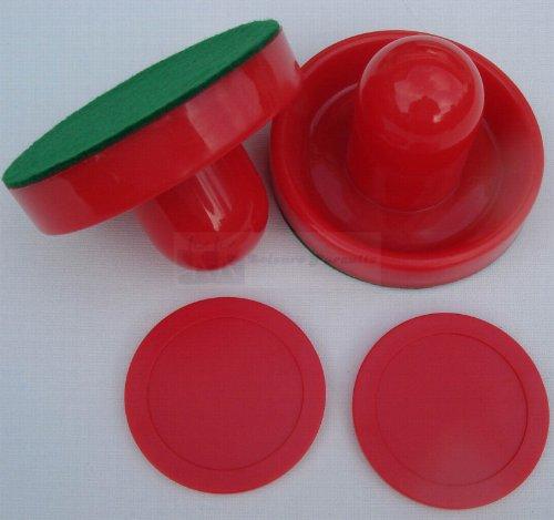 Replacement Pucks Pushers Air Hockey Table - 2 x 63mm Pucks & 95mm Pushers