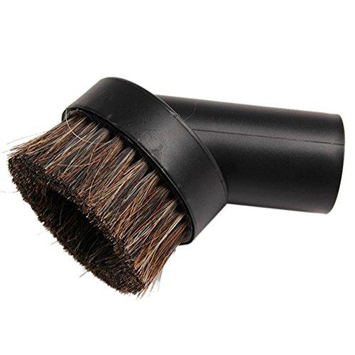 Toruiwa con spazzola rotonda girevole testa spazzola con spazzola morbida capelli sacchetti Hoover attacchi testa di ricambio per aspirapolvere strumento di pulizia 1PCS nero