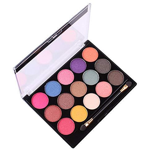 UINGKID 15 couleurs nacré mat fard à paupières maquillage plaque ombre à paupières multicolore