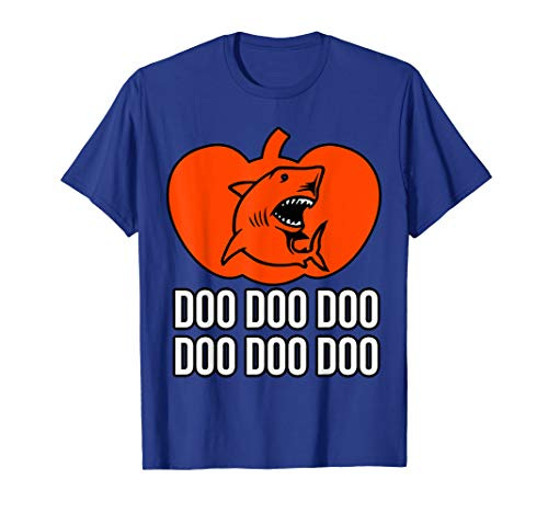 Lustigsten Halloween Kostüm - Halloween Kostüm Kürbis Hai Doo Doo Doo T-Shirt