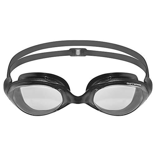Barracuda Swim Goggle Velocity - One-Piece Frame Soft Silicone Seals for Adults #70455 (Schwarz) -