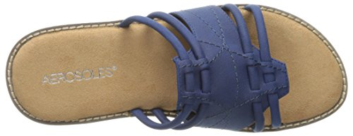 Aerosoles Super Cool Leder Sandale Blue