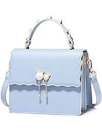 a7dc0ff502d Bolso Perla Coreana Moda Joker Bolso Bandolera Bolso de Mano de Cuero para  Mujer Totes