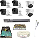 HIKVISION Full HD 5MP Cameras Combo KIT 8CH HD DVR+ 4 Bullet Cameras + 2 Dome Cameras+1TB Hard DISC+ Wire ROLL +Supply & All