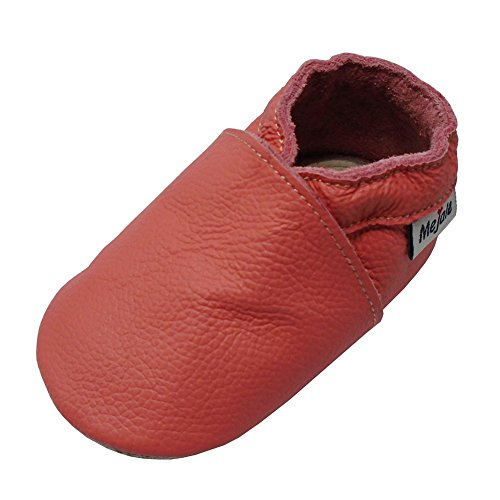 Mejale Premium Weiche Leder Lauflernschuhe Krabbelschuhe Babyschuhe Mokassin(Wassermelone Rosa,24-36 Monate) (Leder-mokassins Rosa)