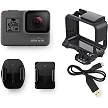 GoPro Hero5 Black - Cmara deportiva de 12 MP 4K 1080p WIFI Bluetooth control por voz pantalla tctil color gris y negro
