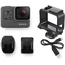GoPro Hero5 Black - Cmara deportiva de 12 MP 4K 1080p WIFI Bluetooth control por voz pantalla tctil color gris y negro