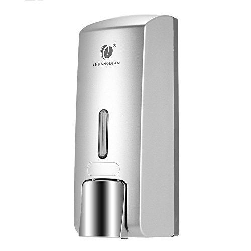 Bar Dispenser Soap (Anself CHUANGDIAN Seifenspender zur Wandbefestigung mit Aufkleber 300ml)