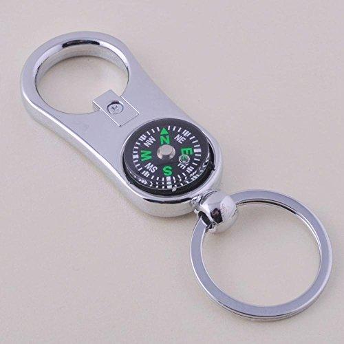 Yarmy Key Chain Kompass Flasche Öffner Schlüsselanhänger Wesentliches Werkzeug für den Schlüssel (Flaschenöffner Schlüsselanhänger Werkzeug)