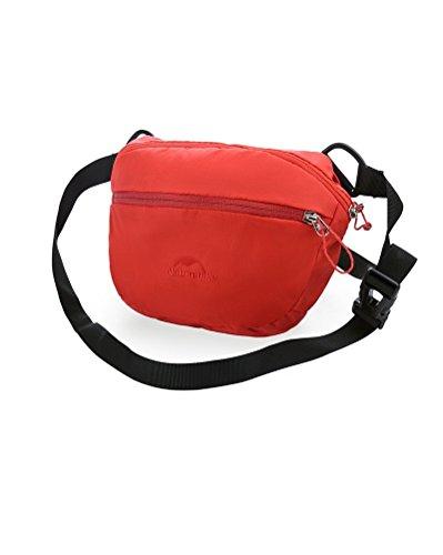 Yvonnelee 3-in-1multifunzione vita e fianchi, Borsa a tracolla a mano Pouch per Campeggio Alpinismo uomini e donne sport Gear leggero da viaggio, trekking, 2L, rosso rosso