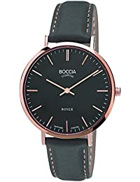Boccia Damen-Armbanduhr Analog Quarz Leder 3590-06