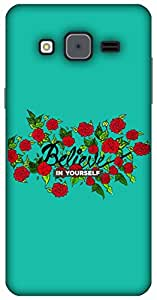 The Racoon Lean Believe hard plastic printed back case for Samsung Galaxy On5