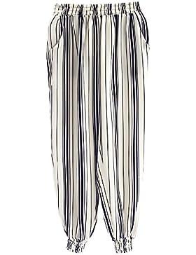 Pantalon Mujer Verano Moda Elegantes Rayas Pantalones Bombachos Cintura Elástica Casual Anchos Hippie Harem Pants...