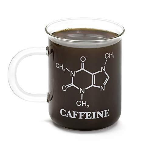 Thumbs up Bedruckte Tasse aus Glas mit Chemie Formel - Chemistry Mug Becher 400ml