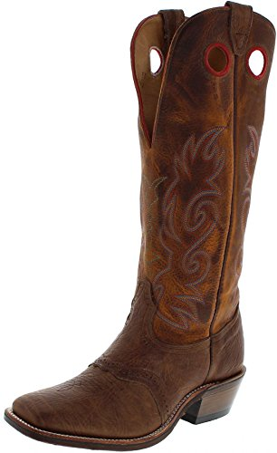 Boulet 0213 Buffalo Gold/Herren Westernreitstiefel Braun/Buckaroo Stiefel/Westernstiefel/Herrenstiefel, Groesse:42 (8.5 US) (Stiefel Leder Buckaroo)
