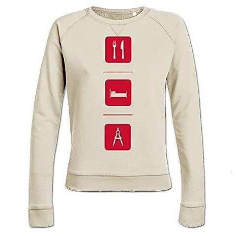 Eat Sleep Architecture Women's Sweatshirt by Shirtcity