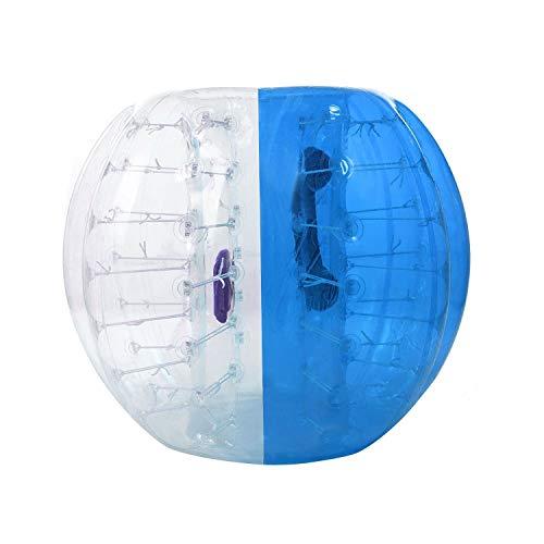 YANGMAN Bumper Fußball aufblasbare Blasen-Bälle Sport Spiel PVC Zorbing Ball Blow Up Toy für Kinder Erwachsene,Blue,1.2M/4Ft