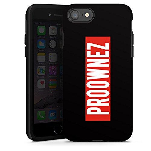 Apple iPhone X Silikon Hülle Case Schutzhülle Proownez Fanartikel Merchandise Youtuber Tough Case glänzend