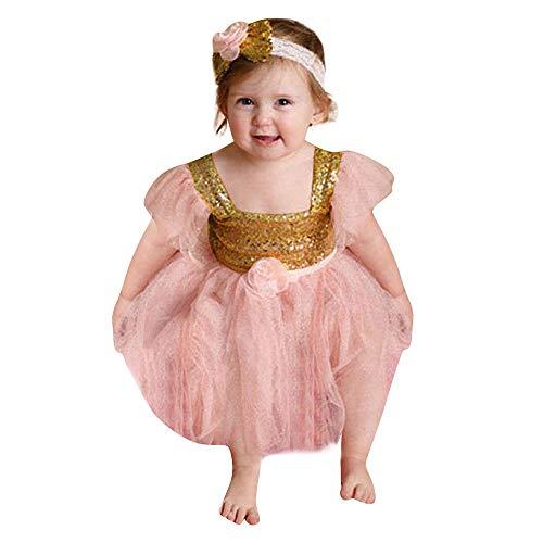 sunnymi Baby Mädchen 2 TLG Lace Bowknot Jumpsuit Stirnband Kostüm Für 3-18 Monat Outfits Kleidung (Patriotische Kostüm Kinder)