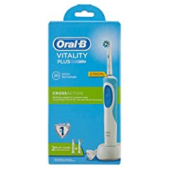 Idea Regalo - Oral-B Vitality Plus CrossAction Spazzolino Elettrico Ricaricabile