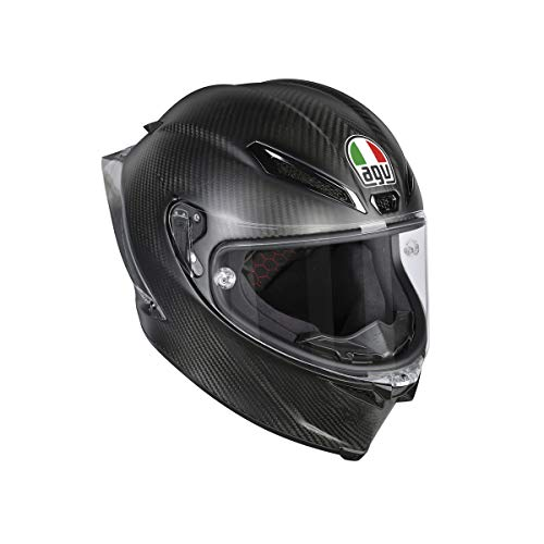 AGV Casco Moto Pista Gp R E2205 Solid PLK, Matt Carbon, XL