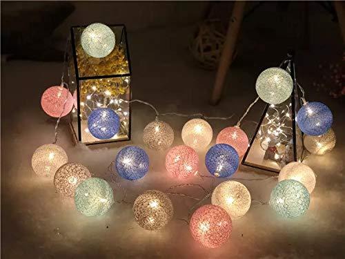 LED Lichterkette Lampions Innen und Außen, APICI 5 Meter 20 LEDs laternen lichterkette Wasserfest für zimmer, Party, Garten, Weihnachten, Halloween, Hochzeit, Beleuchtung Deko (Warmweiß)