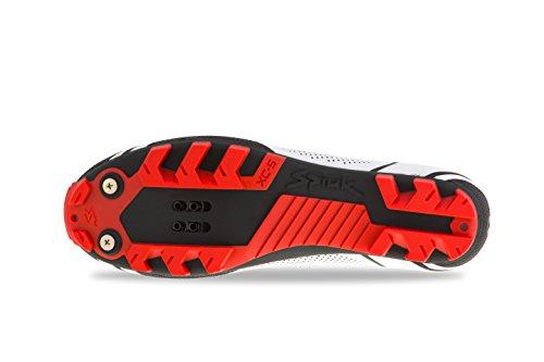 SPIUK altube MTB chaussure unisexe adulte Blanc/noir/rouge