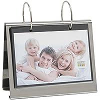 Deknudt Frames S67AF3 Fotoalbum - Fotodose 10x15 Fotoringbuch Silber für 24 Bilder Metall Fotoalbum - Fotodoos